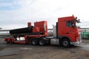 vontatható csőköteg kihúzó trailer mounted bundle extractor