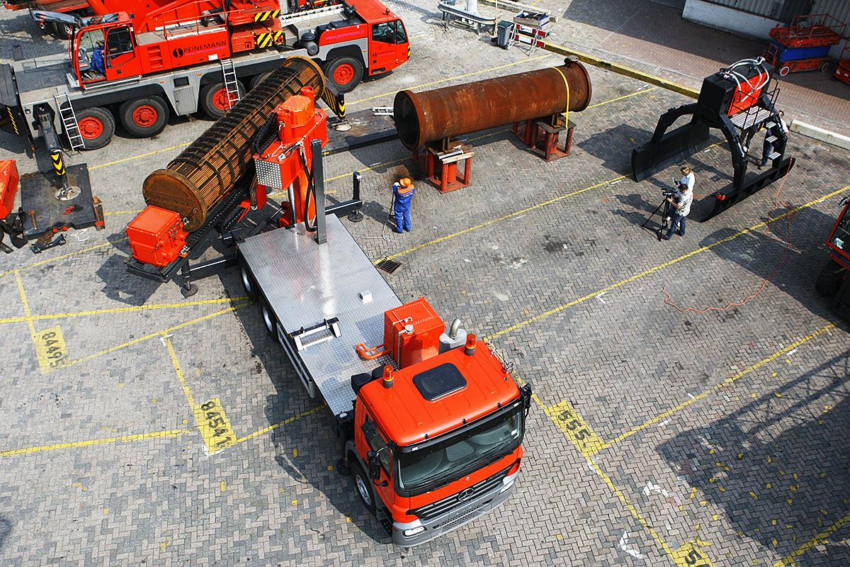 kamionra szerelt csőköteg kihúzó truck mounted