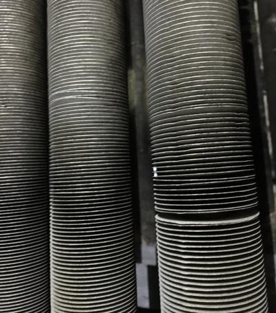 dry cleaned finned tubes